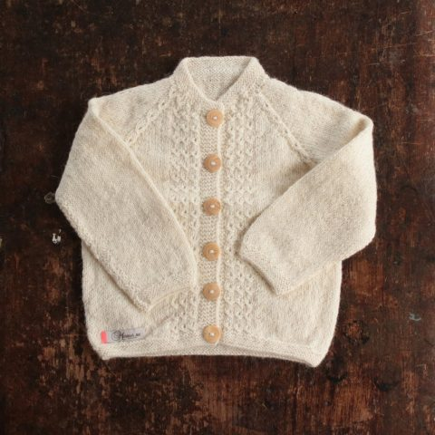 Natural cardigan Grethe
